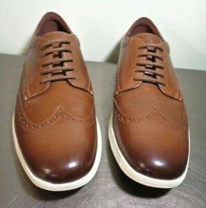 Cole Haan Grand OS Wingtip Derby Woodbury Ivory C29414 US Men's Size 11