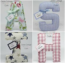 Fabric letters Wall Art Handmade Nursery name, personalised, girl, boy, gift tag