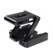 Metal Z Shape Folding Head Holder Desktop Stand QR Plate For Tripod DSLR Camera