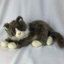 "Ty Classic O'Malley Brown White Kitty Cat Long Hair Stuffed 2002 Plush Tabby 14"""