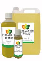 Organic Jojoba Golden (Certified) Unrefined Carrier Oil 50ml 250ml 1L 10L 25L