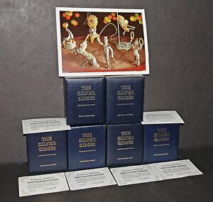 Sascha Brastoff Silver Circus -- Franklin Mint Complete Set + Boxes & Paperwork
