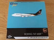 UPS United Boeing 747 Cargo DIECAST METAL Model Gemini 1:400 747-400F  GJUPS1571