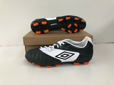 Umbro Men's Geometra Premier A FG Football Boots - Carbon/White - UK 12 - New