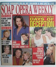 DEIDRE HALL  DRAKE HOGESTYN March 10, 1992 SOAP OPERA WEEKLY / MICHAEL EASTON