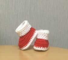 HANDMADE CROCHET BABY FIRST SHOES BOOTIES WOOL CASUAL BOOTS SLIPPERS UNISEX