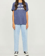 Wildfox Womens Sandwich WTJ6264B6 Top Relaxed OXFD Navy Size S