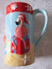 Christmas FLAMINGO coffee mug....Flamingos on the beach