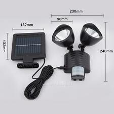 22 LED 2.2W Solar Powered PIR Motion Sensor Security Light Outdoor Garden Lamp
