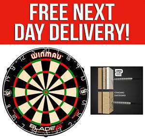 Winmau Blade 5 DUAL CORE Professional Bristle Dartboard Dart Board - Rota-Lock