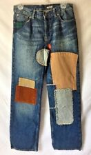 Vintage Polo Ralph Lauren Patchwork Jeans Plaid Patches Bootcut Sz 16 Scarecrow