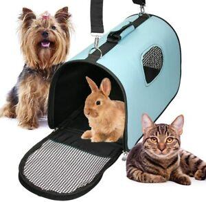 Dog Transport Bag  Dog Carrier Cat Carrier Puppy Pet Folding Transport Bag Blue