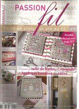 PASSION FIL N°05 DECORER SA SALLE DE BAINS / CONSEILS HORLOGES BRODEES