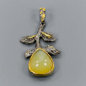 Opal Pendant Silver 925 Sterling Vintage /NP10954