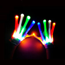 Multi-Color LED Flashing Gloves Electro Light Up Christmas Dance Rave Party Fun