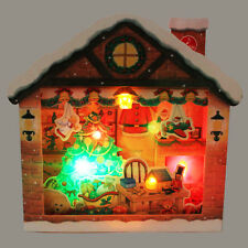 Jolly Illuminated Christmas Home Lights and Melody Pop Up Greeting Card