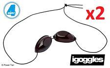 iGoggles - 2 Pairs for Sunbed/Sun Shower Tanning UVA & UVB Eyewear Protection