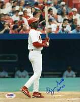 Ozzie Smith Hof 02 Psa Dna Coa Autograph 8x10 Photo  Hand Signed Authentic