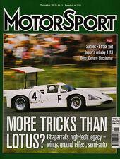 Motor Sport Nov 2003 - Chaparral 2D & 2F, Brno, Shelsley Walsh, Jaguar XJ13