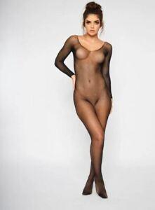 Ann Summers The Ambition Crotchless Body Stocking - Black - Sizes XXS - XXXL