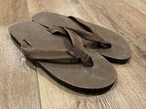 RAINBOW - Flip Flops - Mens - XXXL (13.5 - 15 shoe size) Natural Hemp
