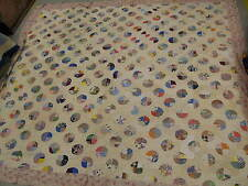 "Antique American King Sized Quilt Very Fine Hand Stitched  80"" x 88"""