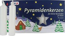 50 RED - WHITE - NATURAL GERMAN CHRISTMAS PYRAMID CANDLES PYRAMIDENKERZEN