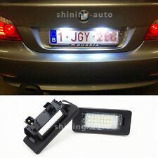 2x Canbus White LED Car License Plate Light bulb for BMW E39 E60 E90 F30E92 etc