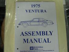 1975 PONTIAC VENTURA (ALL MODELS) ASSEMBLY MANUAL