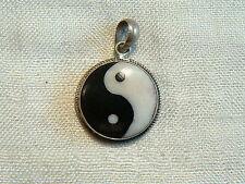 Nepal - Yin Yang silver .925 handmade pendant - colgante - ciondolo - pendentif