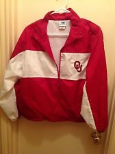 OU OKLAHOMA SOONERS ZIP JACKET YOUTH LARGE COLLEGE FOOTBALL