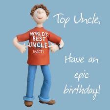 "HOLY MACKEREL ""TOP UNCLE!""  BIRTHDAY GREETING CARD FREE 1ST P&P"