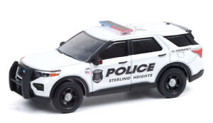 GREENLIGHT 1:64 STERLING HEIGHTS MICHIGAN 2020 FORD POLICE INTERCEPTOR [PRESALE]