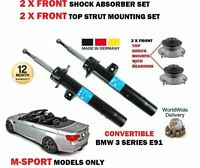FOR BMW E93 318 320 325 330 2007-> 2X FRONT SHOCK ABSORBER SET + TOP MOUNTINGS