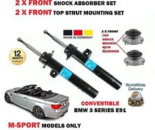 FOR BMW E93 335i CONVERTIBLE 2007-> 2X FRONT SHOCK ABSORBER SET + TOP MOUNTINGS