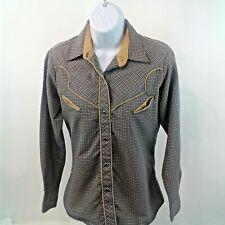 Italia Vintage - Reserved Stock womens Blue/Gray Geometrim Print Shirt/top Sz XL