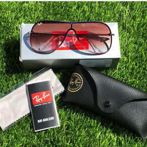 Ray Ban Rb4311n Shield Aviator Sunglasses 38 Millimeters Red Mirror