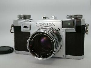 [Near Mint] Contax IIa Black Dial Camera w/ sonnar 50mm F/2 From Japan B55