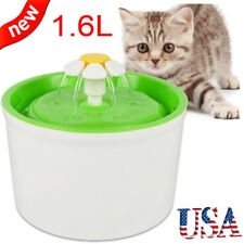 1.6L Pets Dog Cat Electric Automatic Water Drinking Filter Fountain Bowl Usa