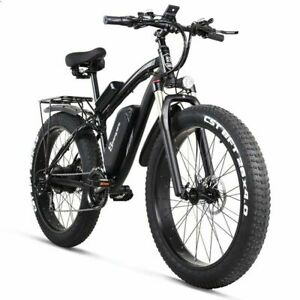 "Electric Bike Ebike 26"" Front 1000w Fattier Beach Cruiser City Mountain Bicycles"