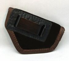 SUEDE LEATHER INSIDE THE PANTS GUN HOLSTER FITS .25 to .380 AUTOS - BROWN