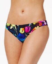 NEW BAR III Painted Posies Cheeky Ruched Back Bikini Bottom Swim M Medium