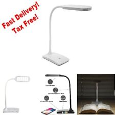 Desktop LED Desk Table Lamp with USB Charging Port 7 Watts 3Way Touch Switch NEW
