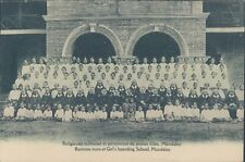 BIRMANIA Burnese nuns girl's school Mandalay 1910s PC
