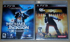 PS3 Game Lot - Michael Jackson for PS Move (New) Def Jam Rap Star (New)