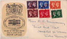 1940 Centenary - RPS (Brown) Cover - London (Red Cross) Centenary Handstamp