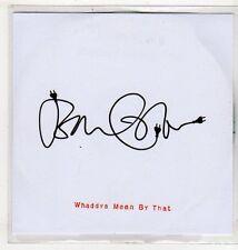 (EV592) John Cale, Whaddya Mean By That - 2011 DJ CD