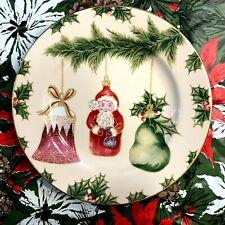 "American Atelier Christmas ""Ornaments"" Porcelain 8"" Dessert Plate"
