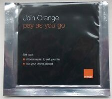 2G Orange UK Pay As You Go Sim Card Simcard, Old Type, Brand New, Sealed