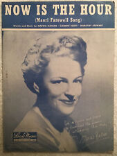 Now Is The Hour (1946, Sheet Music) Maori Farewell Song Gracie Fields